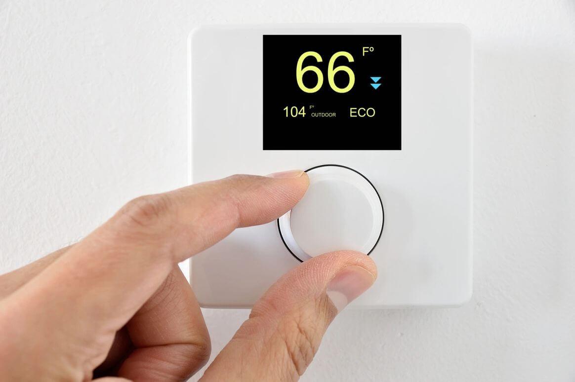 thermostat – HVAC system installation in Houston, TX